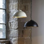 Dome shaped factory style pendant lights