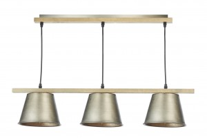 Arken 3 Light Ceiling Bar Pendant