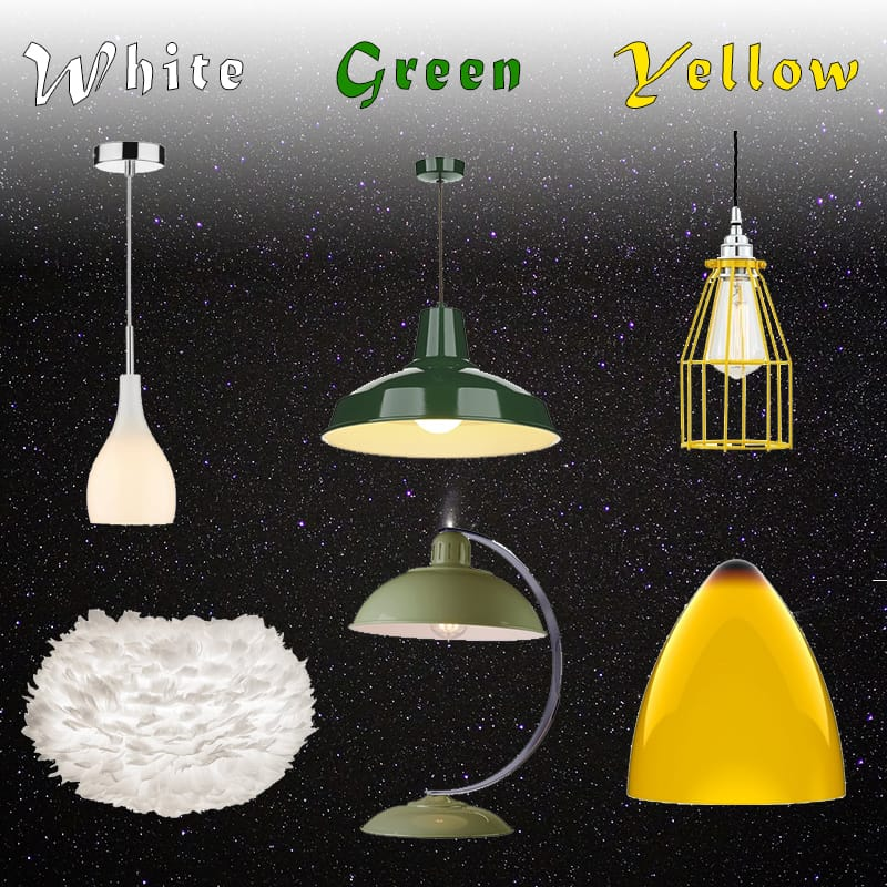 white green yellow