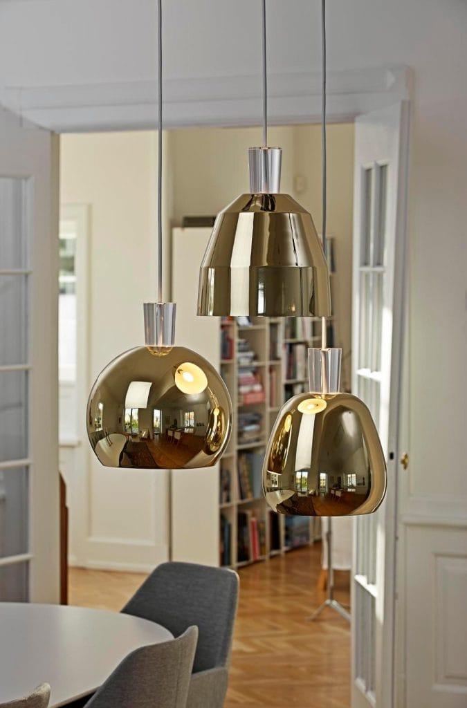 Glossy Brass Ceiling Pendants