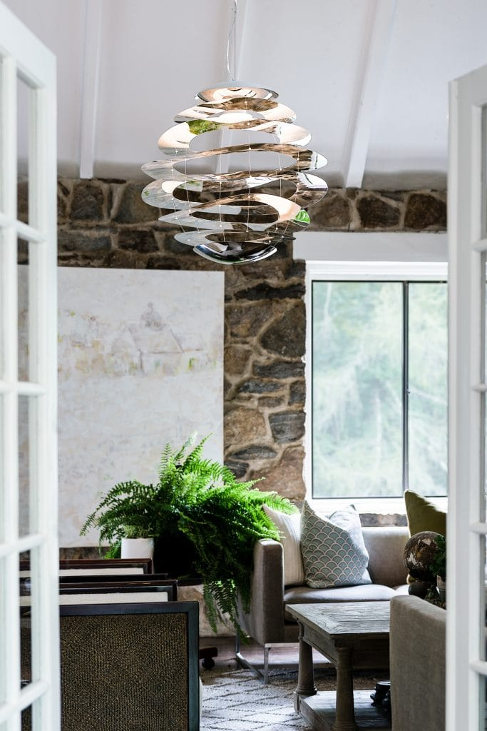 Innermost BUCKLE 120 decorative LED mirror polished chrome ceiling pendant light