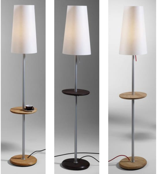JAMES Floor Lamp with Table Attached