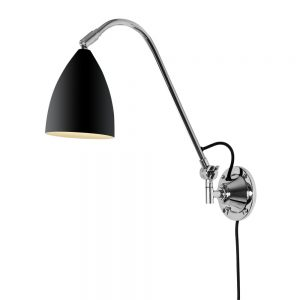 JOEL GRANDE modern wall light in black finish