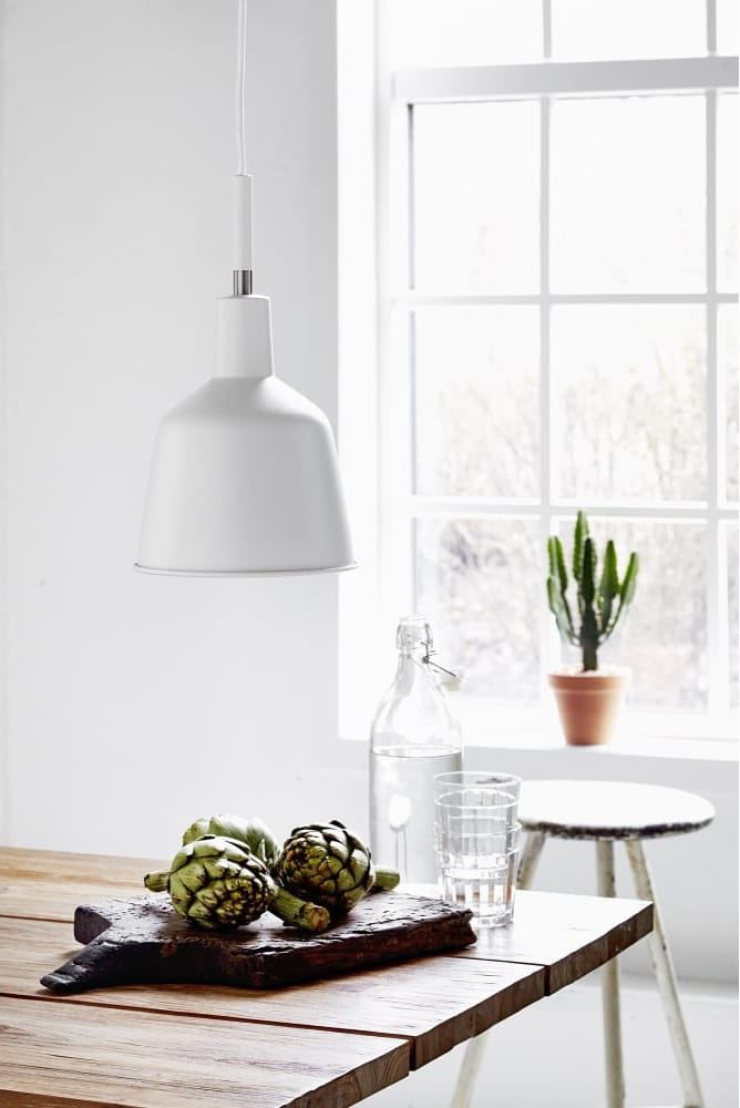 Design For The People PATTON white workshop style ceiling pendant