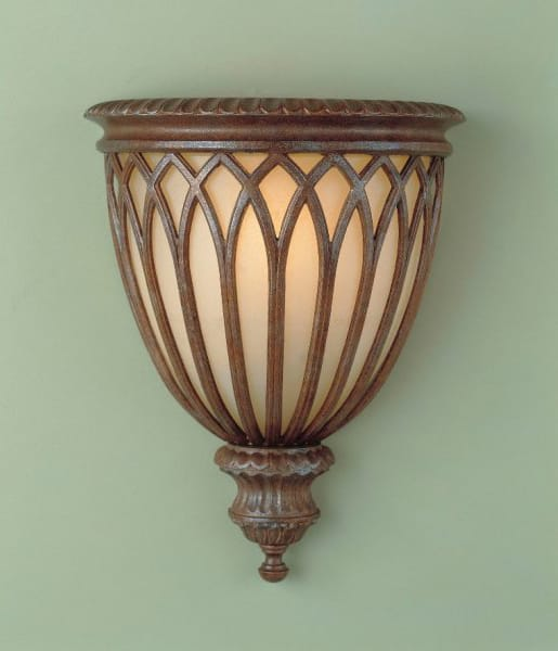 STIRLING CASTLE British bronze rustic wall uplighter