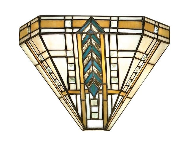 LLOYD Tiffany glass wall washer light in Art Deco style