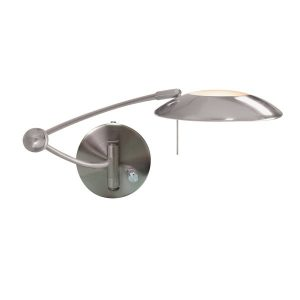 Lighting Catalogue SWING ARM WALL LIGHT in satin silver