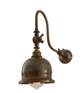 MONAGHAN LIGHTING APIA - Swivel Poster Light Wall Light In Antique Brass