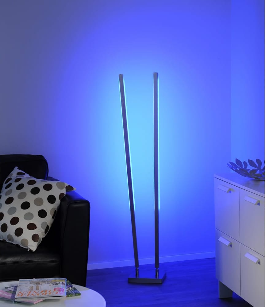 Smart Light QGLIDO RGB LED colour changing floor lamp (dual)