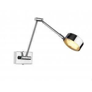 The Lighting Book CRUISE LED adjustable chrome wall light