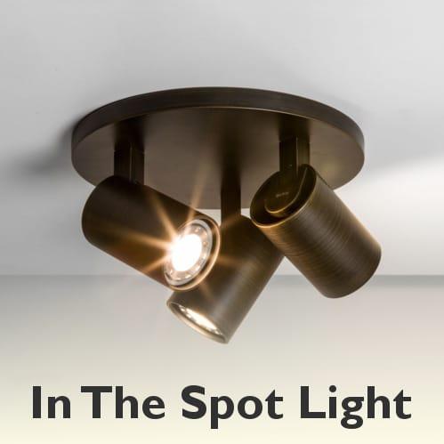 3 Light Ceiling Spotlight Cluster