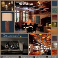 Collage of creative ideas for interior design hospitality