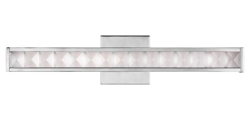 chrome and crystal LED bathroom wall light