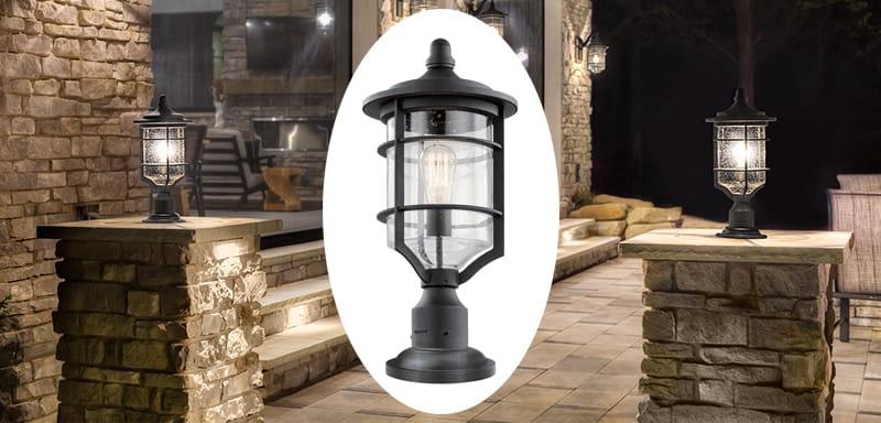 outdoor pedestal lantern