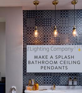 Awe Inspiring Dive In To Bathroom Pendant Lighting The Lighting Company Beutiful Home Inspiration Ponolprimenicaraguapropertycom