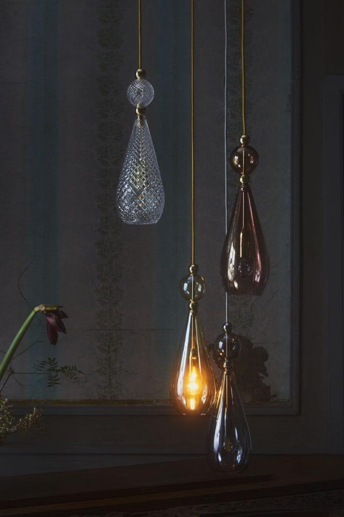 Copenhagen Glass Collection  SMYKKE modern crystal glass ceiling pendant light