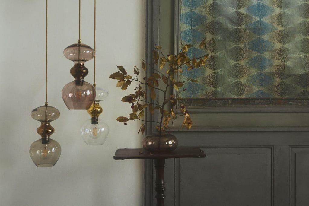 Copenhagen Glass Collection  FUTURA chestnut brown glass ceiling pendant (small)
