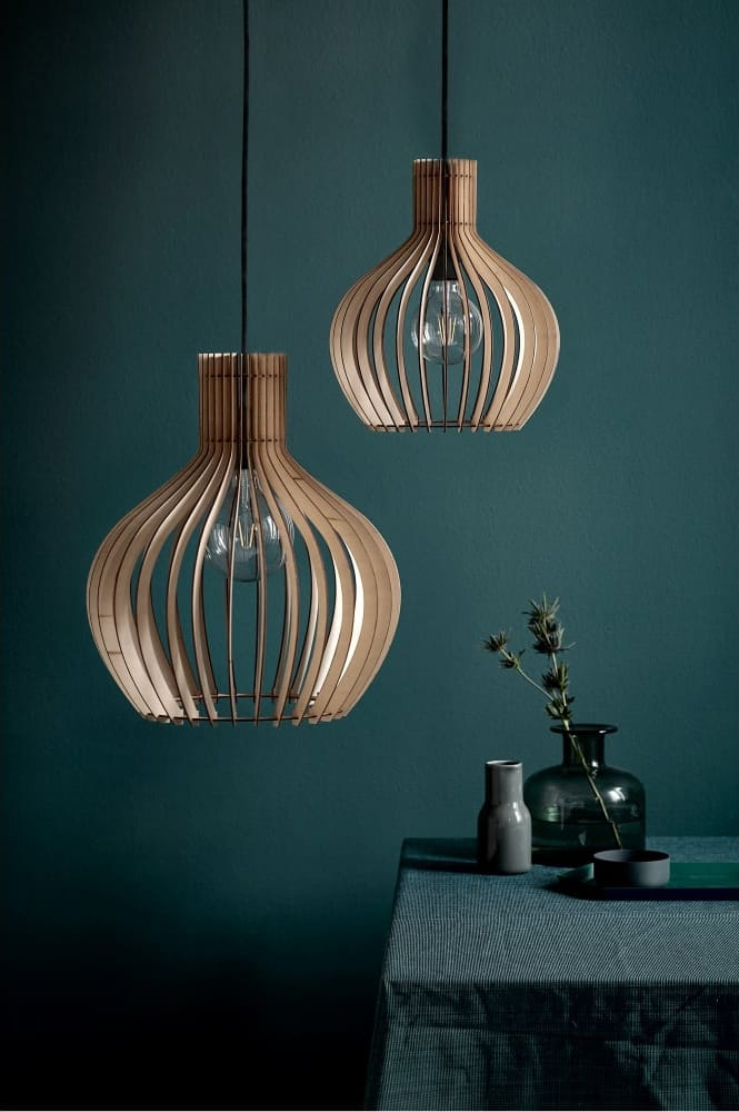Nordlux  GROA wooden slat ceiling pendant light (small)