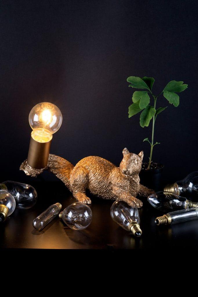Globen Lighting  PIFF squirrel wall light in brass