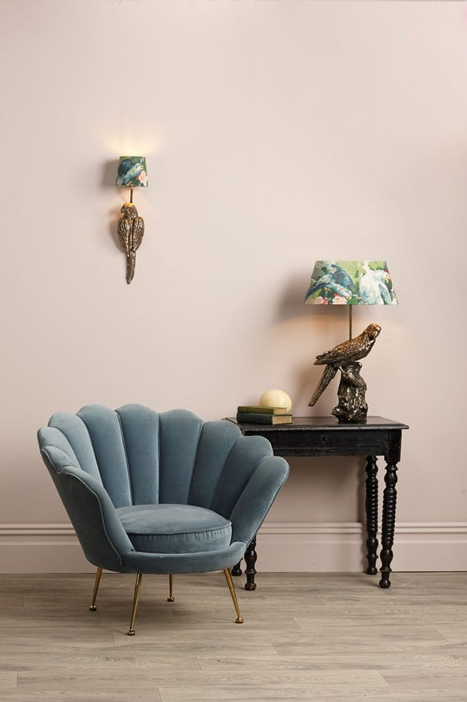 Lighting Company The David Hunt Lighting Collection  PARROT Single Wall Bracket Bronze complete with Silk Shade