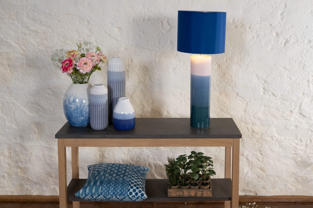 The Lighting Book  IGNATIO ceramic pink and blue table lamp base