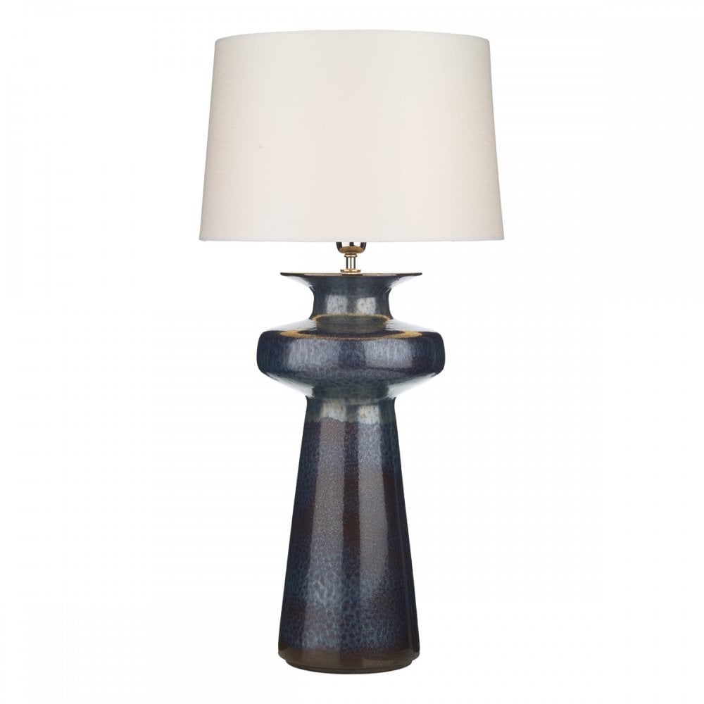 The David Hunt Lighting Collection  LUSTRE table lamp in black oil effect finish with shade (large)