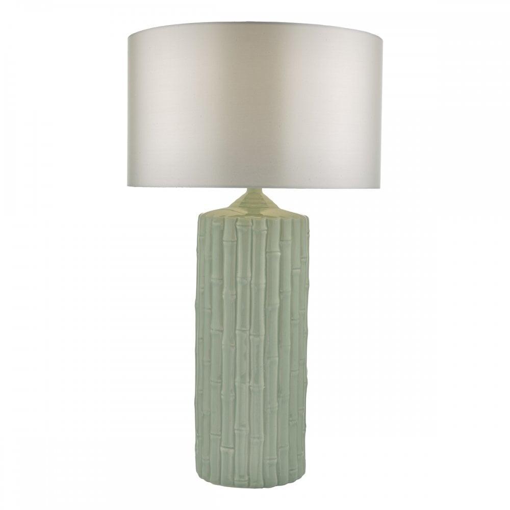 The Lighting Book  RATTAN mint green ceramic bamboo table lamp base