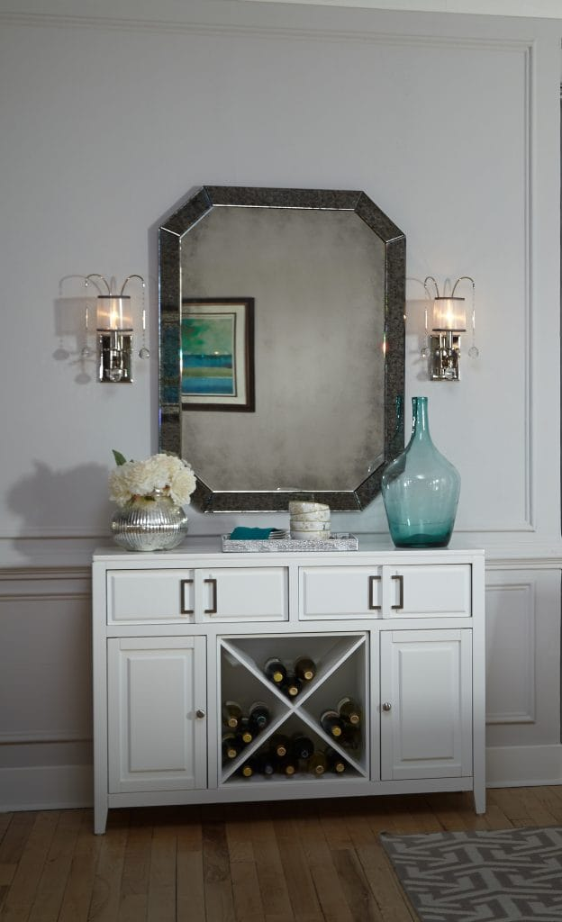 WHITNEY decorative single wall light in imperial silver with organza shade