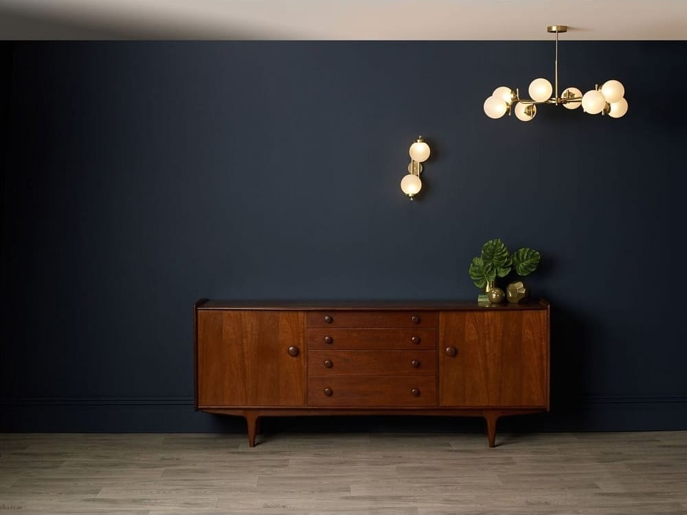 JAZZ 8 light polished brass ceiling light with frosted glass shades