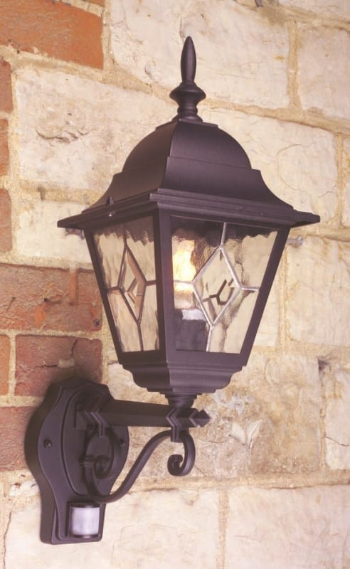Exterior sensor PIR lights in traditional and modern styles