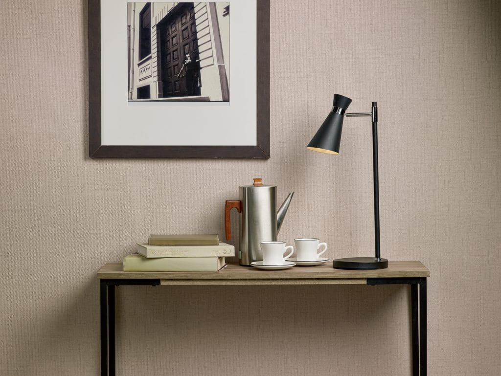 The Lighting Book ASHWORTH matte black and chrome modern desk lamp