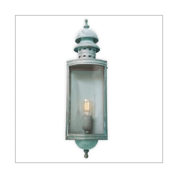 DOWNING STREET traditional verdigris garden wall lantern