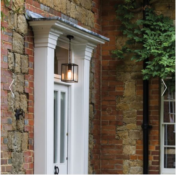 HOMEFIELD outdoor square box lantern pendant by The Lighting Company