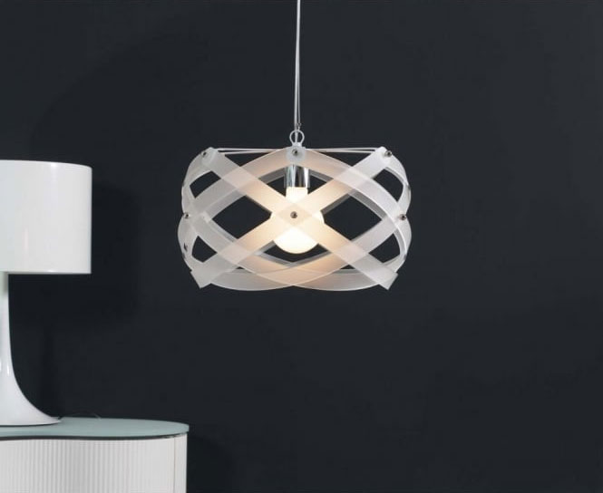 NUCLEA Italian design white ceiling pendant by Lighting Company UK
