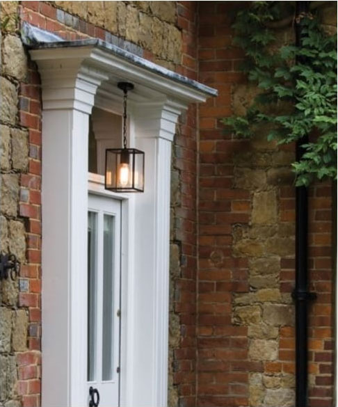 HOMEFIELD outdoor square box lantern pendant from Lighting Company UK
