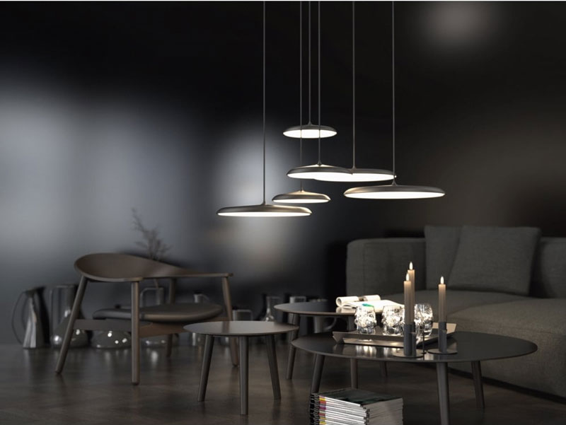 ARTIST 40 modern LED ceiling pendant in grey finish Lighting Company UK