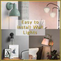 Wall Mounted Plug in Lights