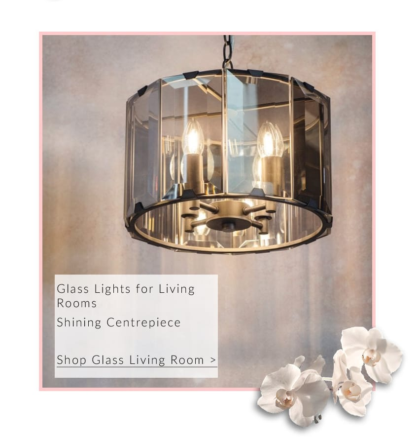 Project: Lighting CLOONEY 4 light smoke cut glass and grey ceiling pendant