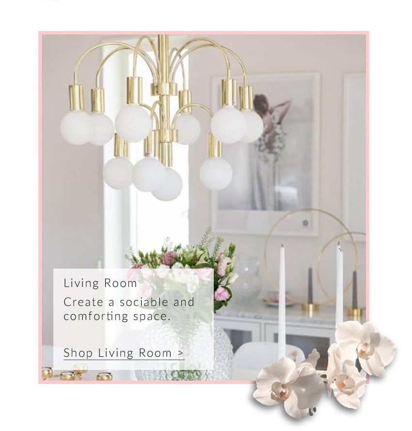 GRACE 10 light polished brass chandelier