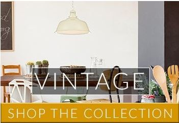 Vintage styling is a hot lighting trend that's timeless