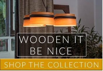 Lighting and Lamps made from wood | Lighting with wooden detail by Lighting Company UK