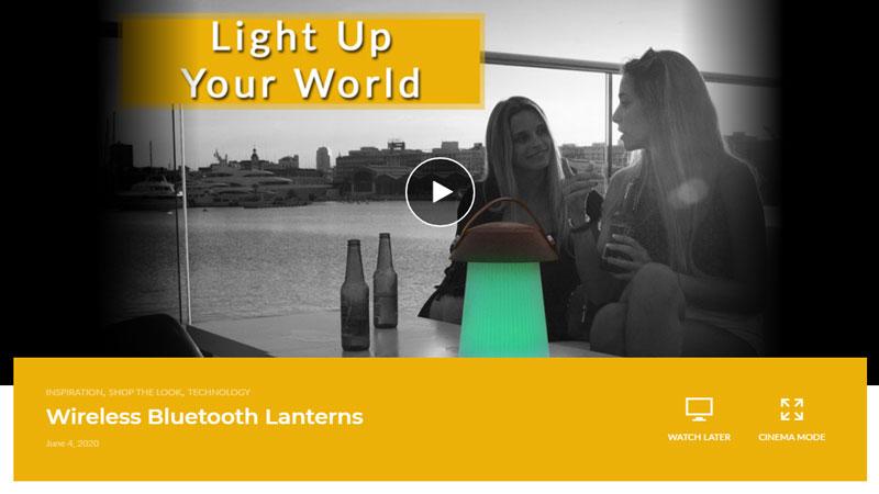 Wireless Bluetooth Lantern Video