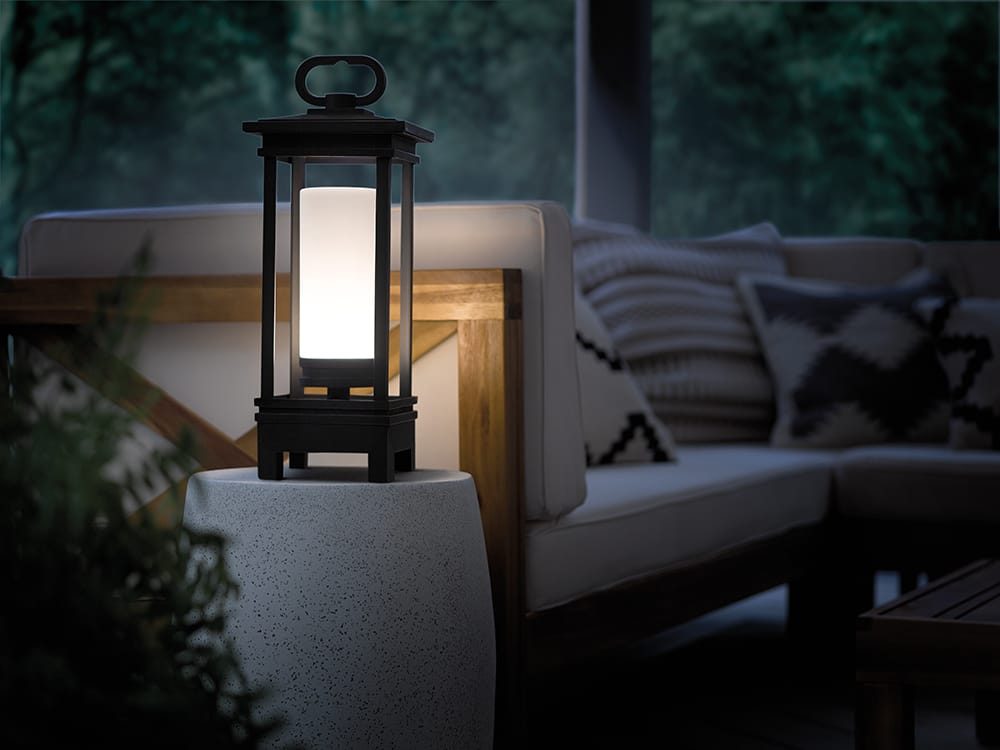 New York Lighting Collection SOUTH HOPE LED portable bluetooth speaker lantern in rubbed bronze