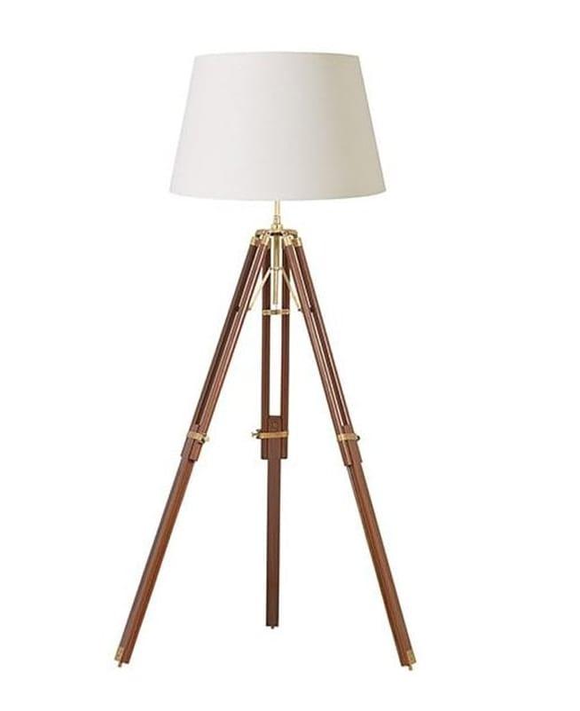 TRIPOD Mango Wood Tripod Floor Lamp Base