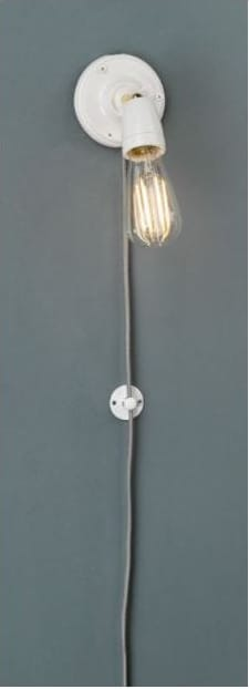 The Lighting Book Vol: 2 SIKA Adjustable Single Spotlight Suspension White Ceramic Ceiling or Wall Mountable