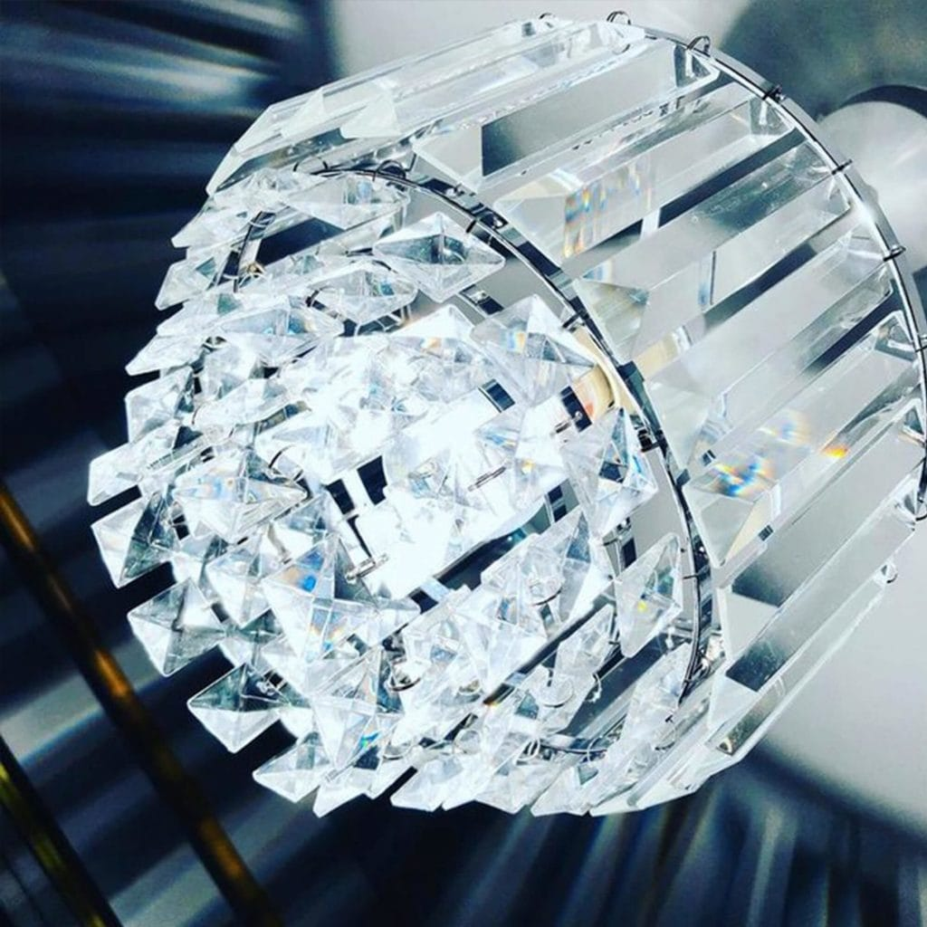 Laura Ashley Crystal Ceiling Light Shade