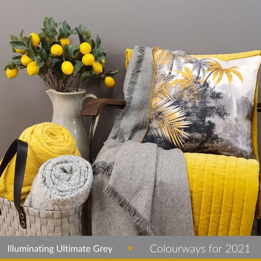 Grey and Yellow Homewares | Lighting Company UK
