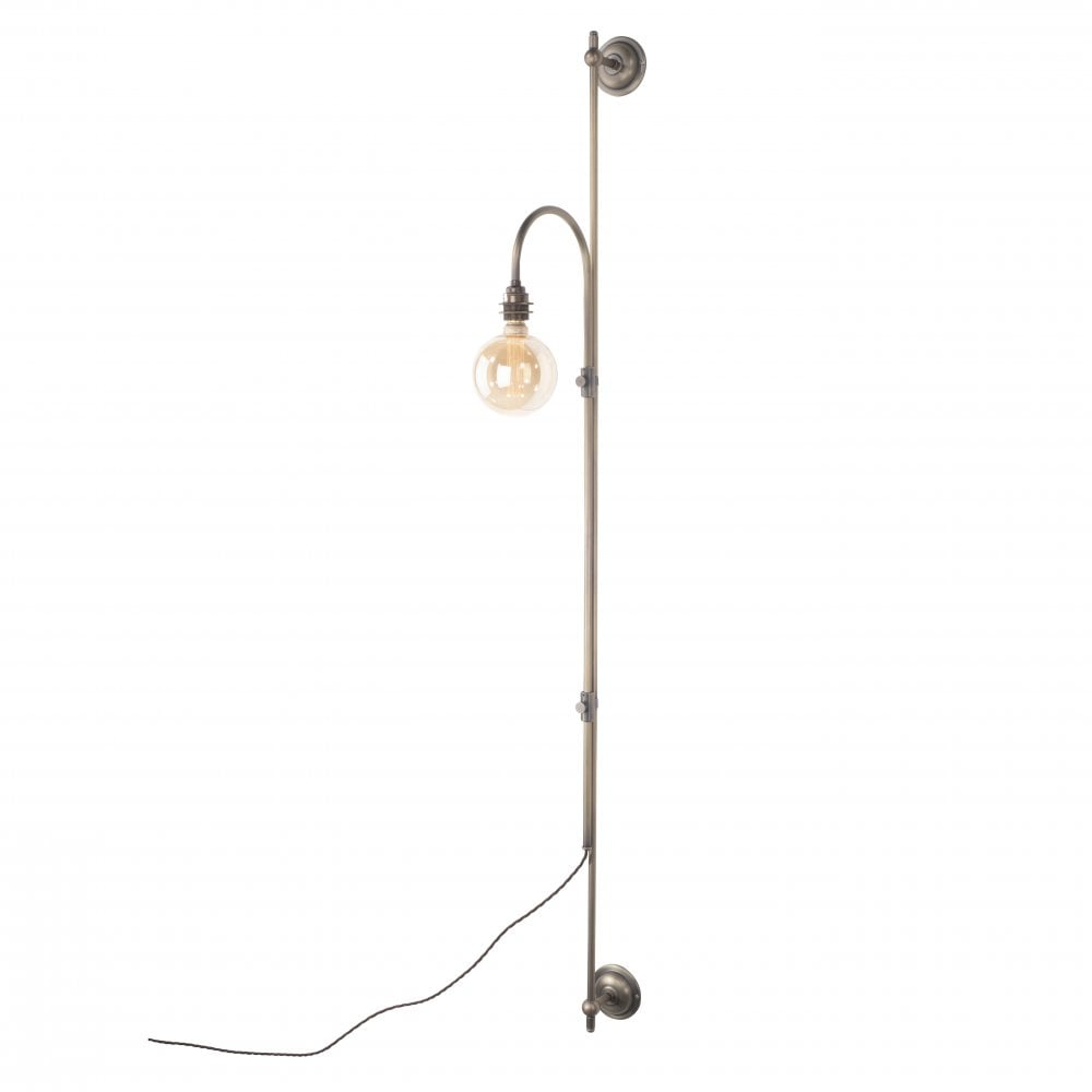 rise and fall plug in wall light