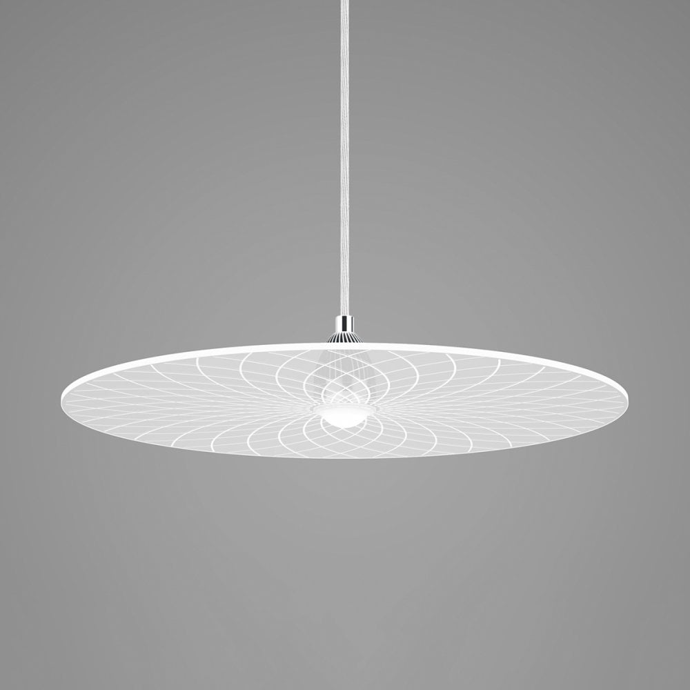 White disk ceiling shade