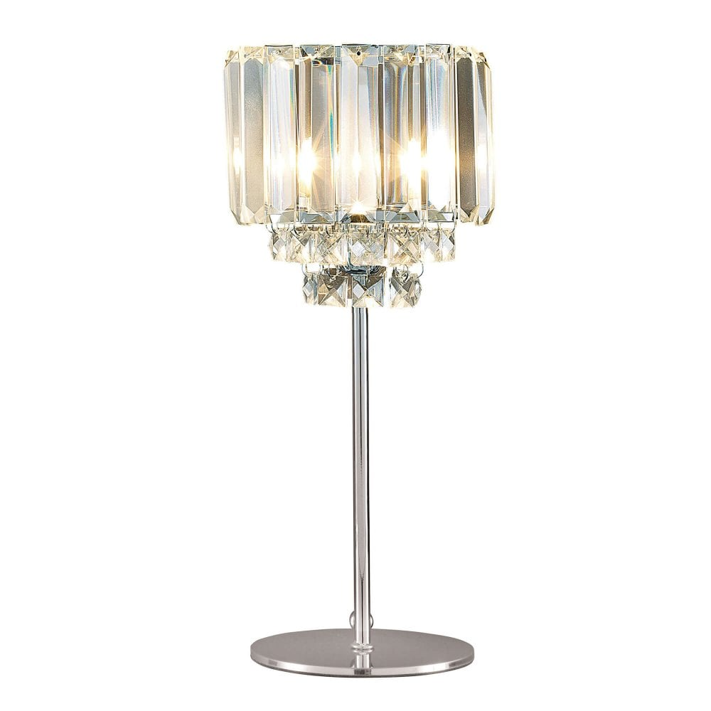 glass and crystal table lamps